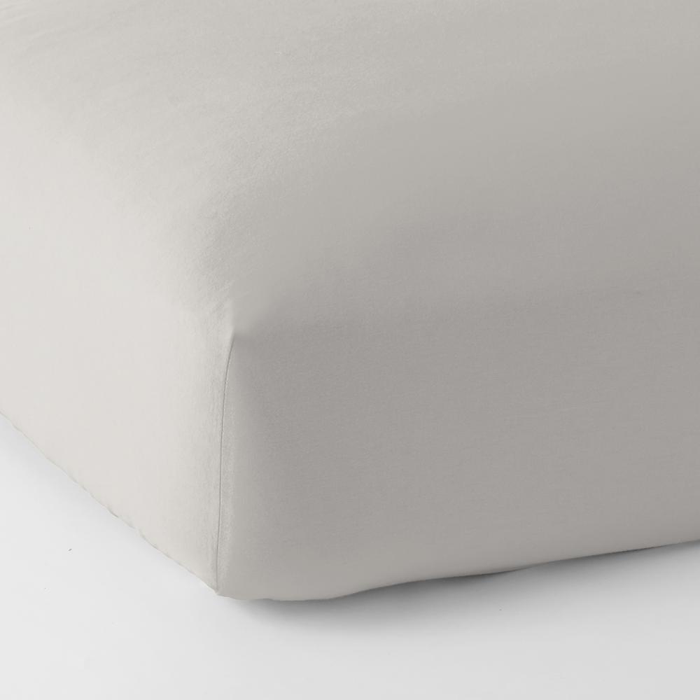 Legacy Velvet Flannel Platinum Solid Deep Pocket King Fitted Sheet