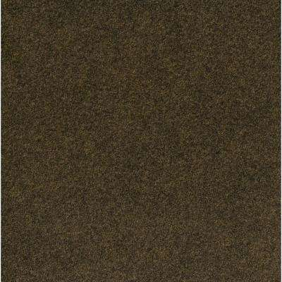 Peel and Stick Grizzly Grass Pecan 24 in. x 24 in. Artificial Turf Carpet Tiles (15 Tiles/Case)