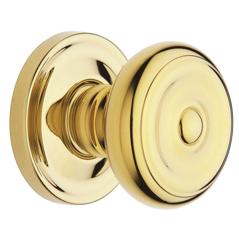estate colonial polished brass halfdummy knob