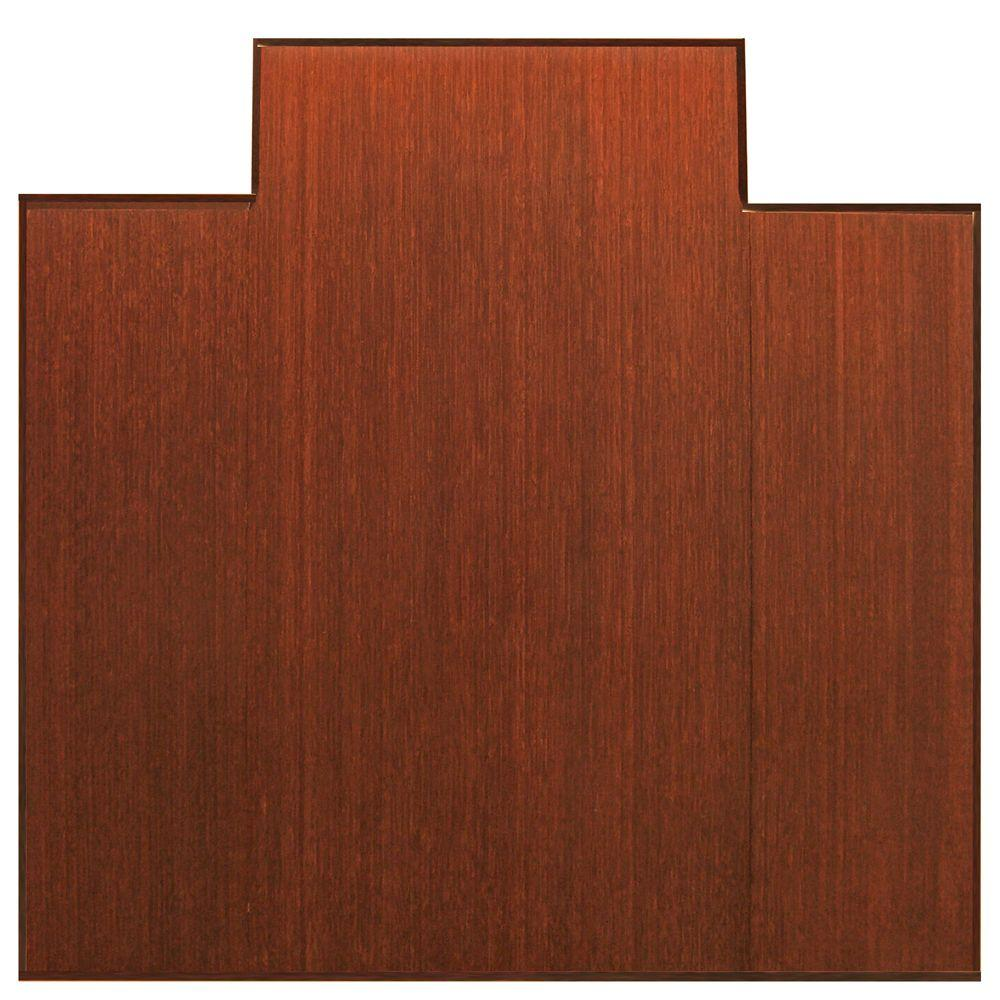 Plush Dark Brown Mahogany 47 in. x 51 in. Bamboo Tri-Fold