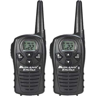 X-TRA TALK GMRS 2-Way 18-Mile 22 Channel Radios (2-Pack)