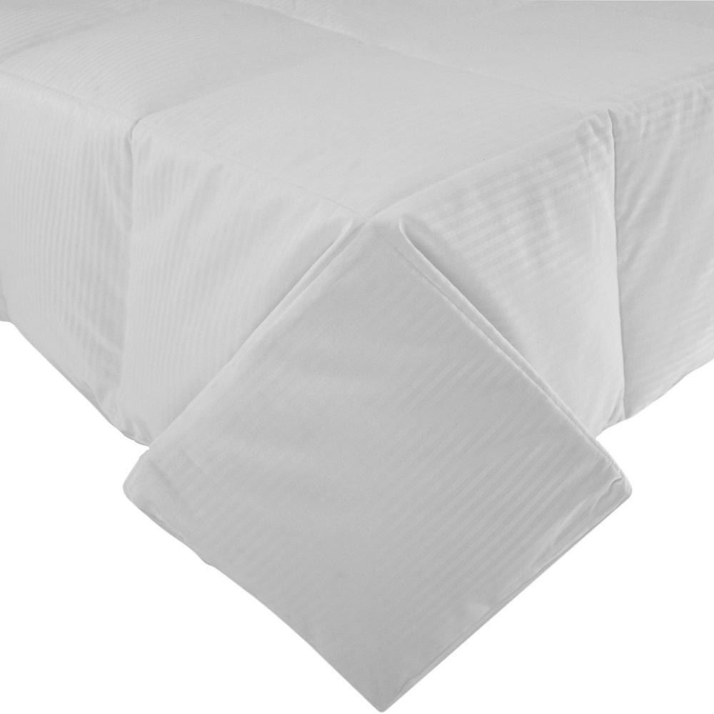 null Year Round 100% Cotton Dobby White Full and Queen Goose Down Comforter