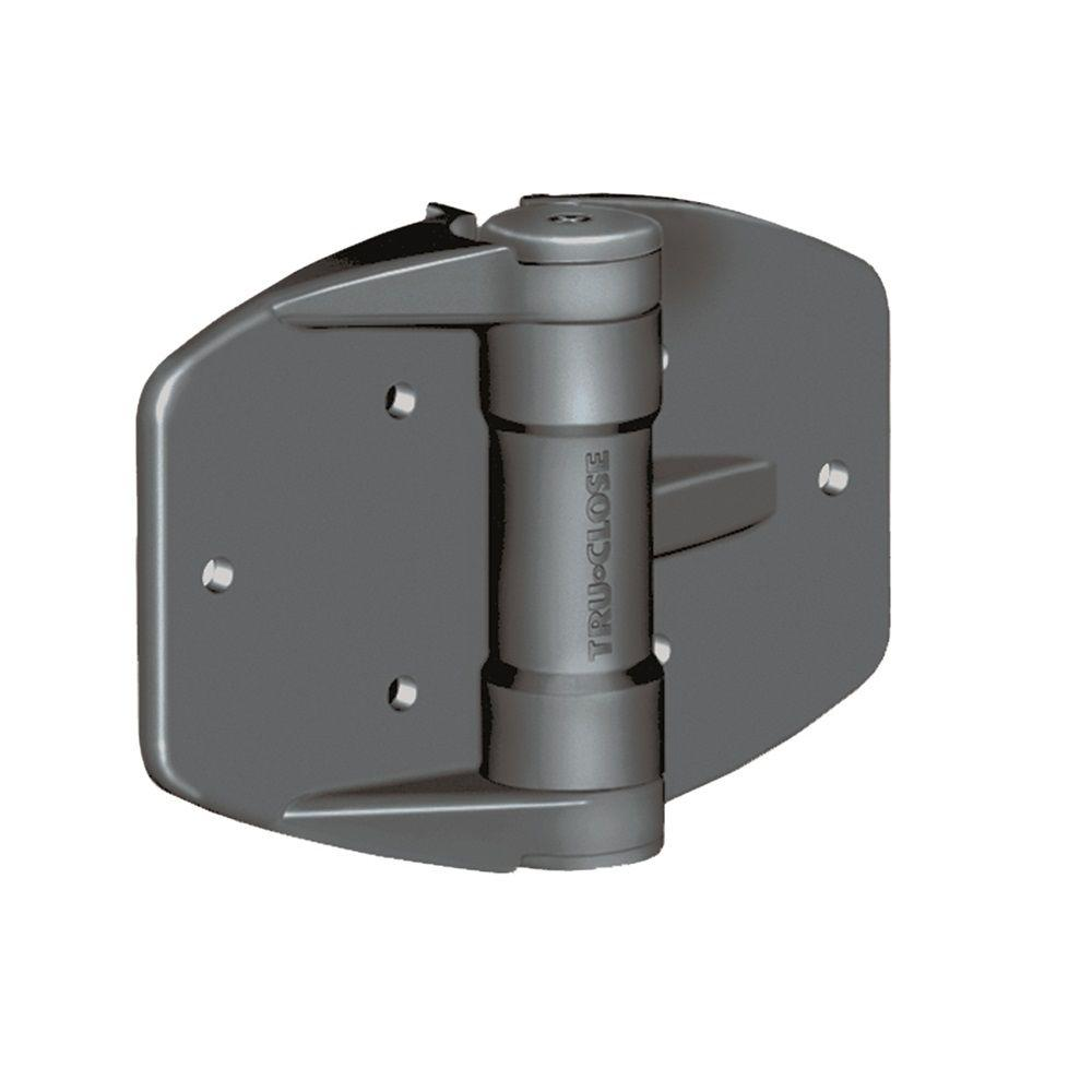 Tru-Close D&D 5-1/8 in. x 3-3/4 in. Black Self-Closing Vinyl and Wood Gate Hinge (2-Piece)