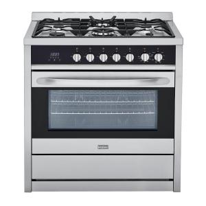 Click here to buy Haier 3.8 cu. ft. Gas Freestanding Range with Convection Oven in Stainless Steel by Haier.