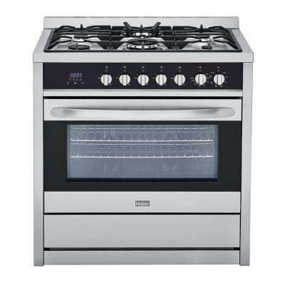 3.8 cu. ft. Gas Freestanding Range with Convection Oven in Stainless Steel