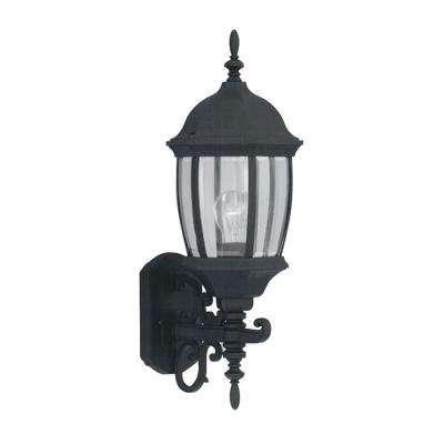 Tiverton Black Outdoor Wall-Mount Lantern