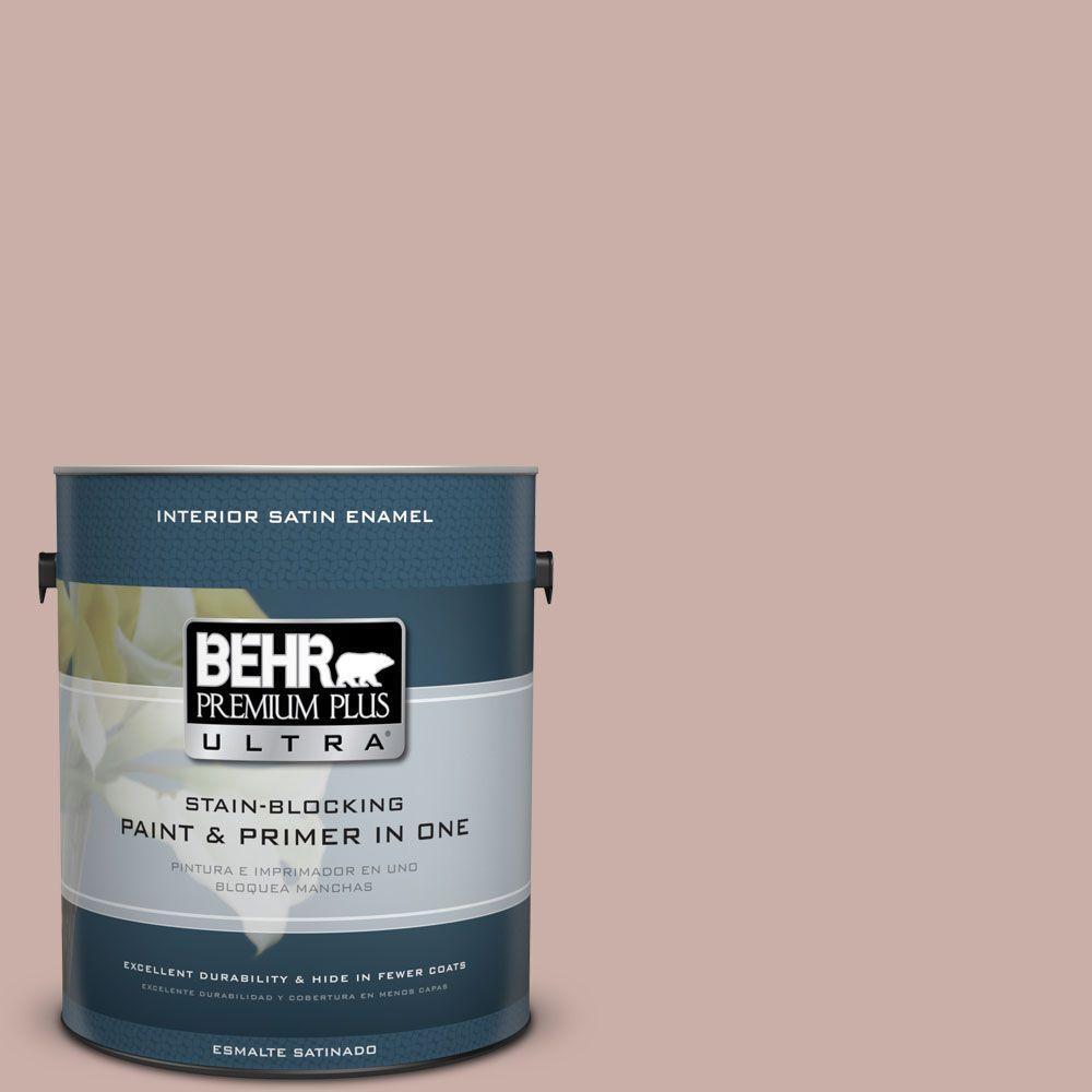 1 gal. #HDC-CT-07A Vintage Tea Rose Satin Enamel Interior Paint