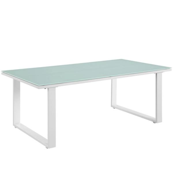 Fortuna Patio Wicker Outdoor Coffee Table in White