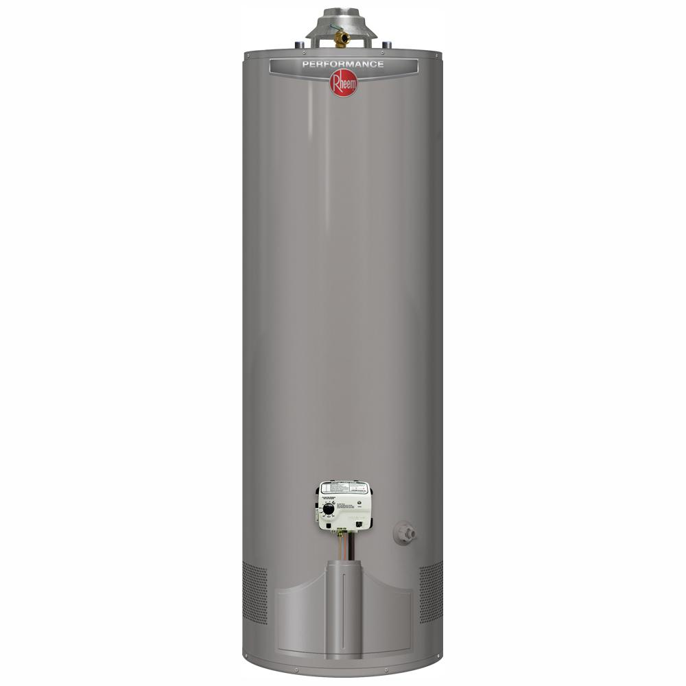 Rheem Performance 40 Gal. Tall 6-Year 38,000 BTU Ultra Low NOx (ULN) Natural Gas Tank Water Heater with Top T and P Valve