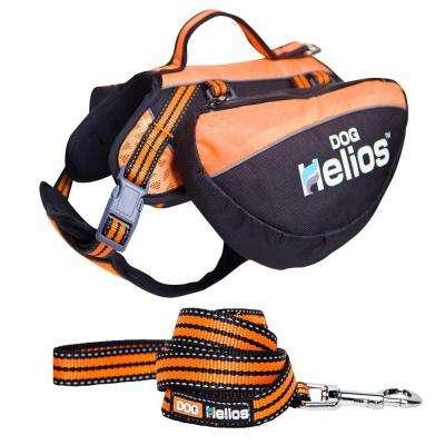 Freestyle 3-in-1 Explorer Convertible Backpack Small Orange Harness and Leash
