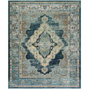 Safavieh Crystal Blue Yellow 9 Ft X 12 Ft Area Rug