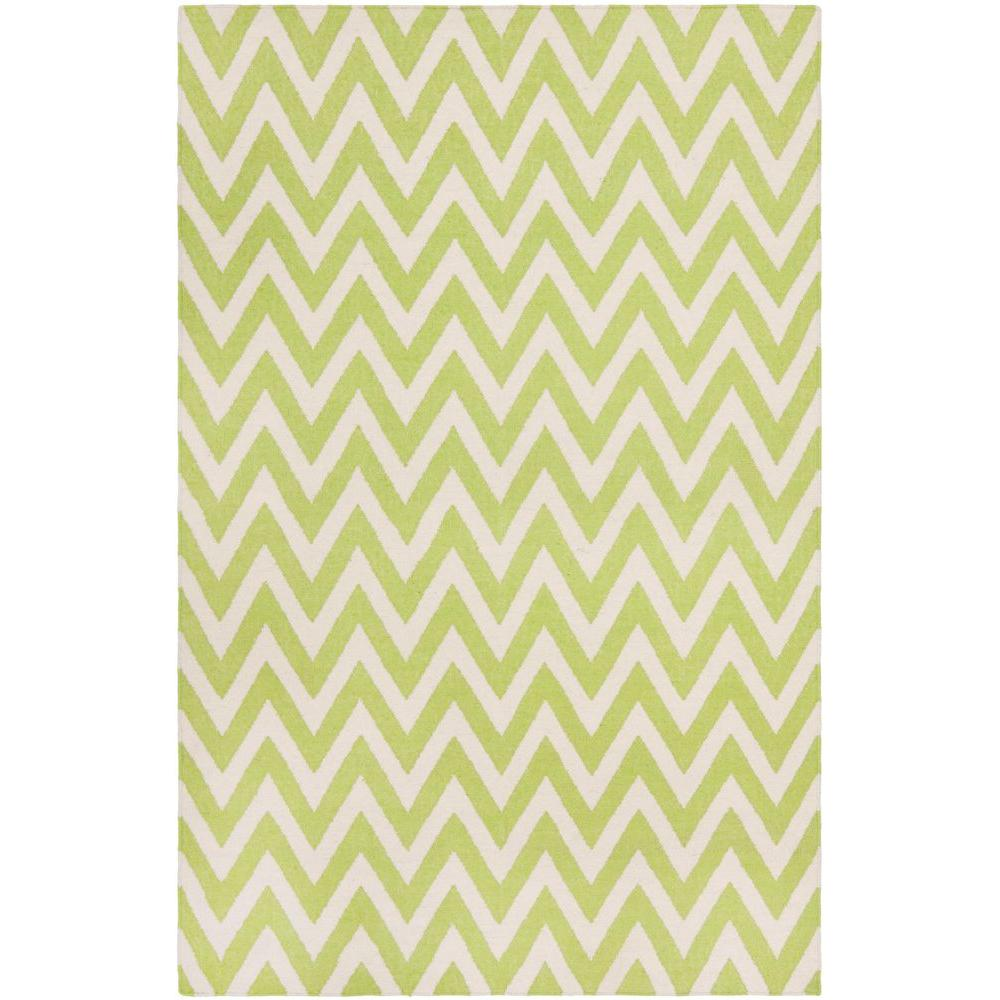 Dhurries Green/Ivory 9 ft. x 12 ft. Area Rug
