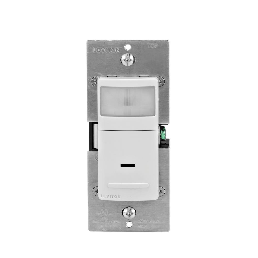 150-Watt LED/CFL, 300-Watt Incandescent Decora Manual On Auto Off Vacancy Sensor, White