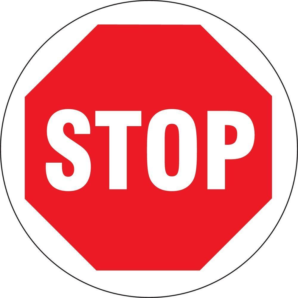 17 in. x 17 in. Vinyl Stop Sign