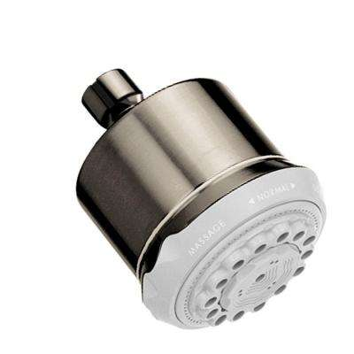Clubmaster 3-Spray 3-5/8 in. Showerhead in Brushed Nickel