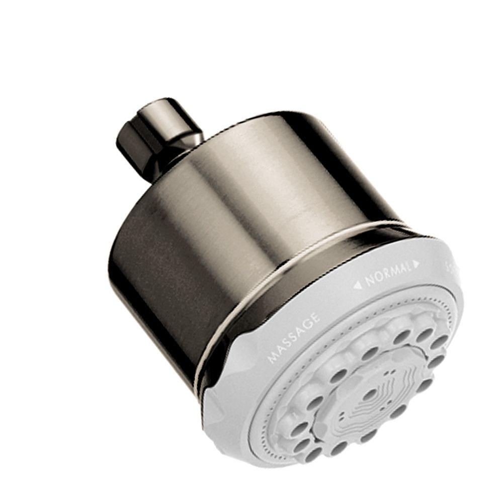 Clubmaster 3-Spray 3-5/8 in. Showerhead in Brushed Nickel-28496821 ...