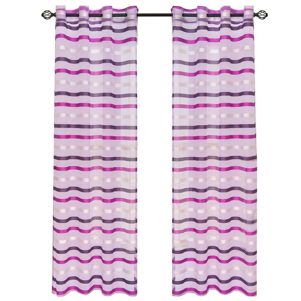 Violet Sonya Grommet Curtain Panel, 95 in. Length