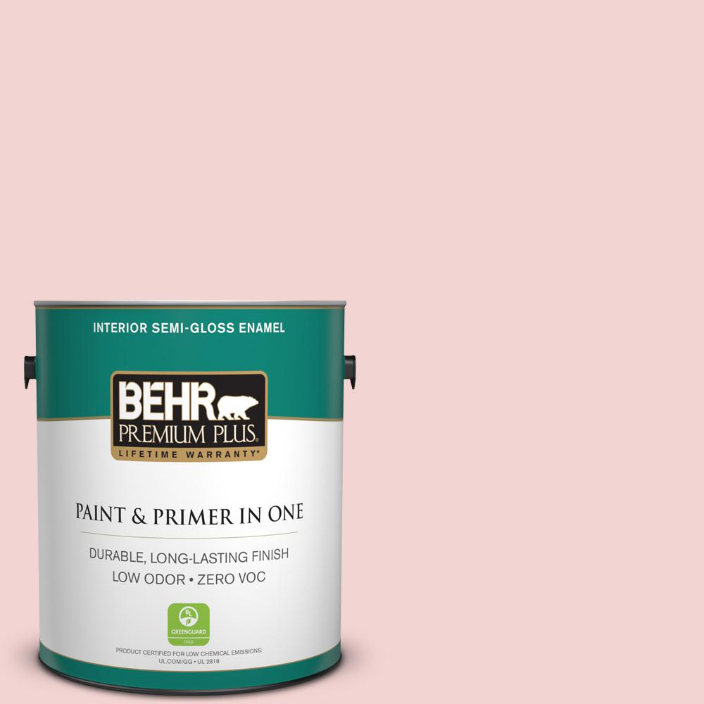 BEHR Premium Plus 1-gal. #150C-2 Hawaiian Shell Zero VOC Semi-Gloss Enamel Interior Paint