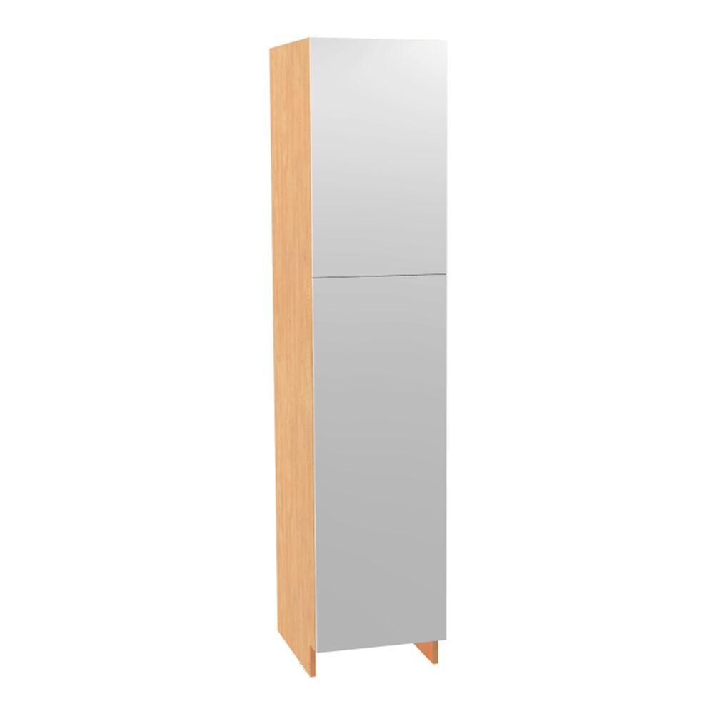 18x84x24 in. Salerno Pantry Cabinet with 4 Chrome Pullout Shelves and