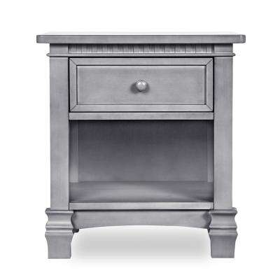 Cheyenne 1-Drawer Storm Grey Night Stand