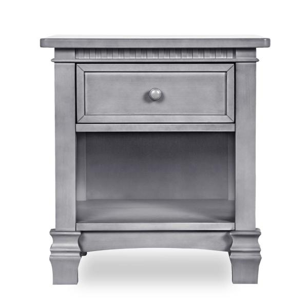 Evolur Cheyenne 1-Drawer Storm Grey Night Stand 88264-SGY