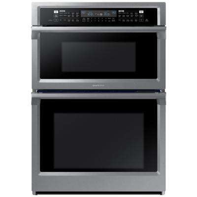 30 in. Electric Dual Convection and Steam Cook Wall Oven with Built-In Microwave in Stainless Steel