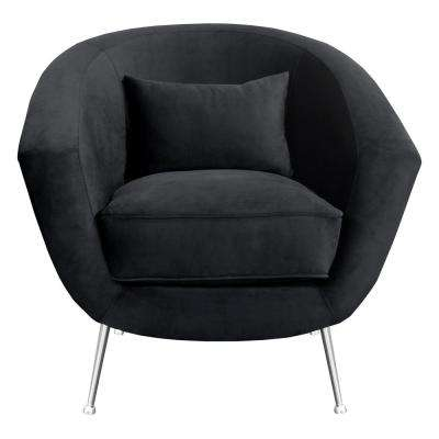 Tulare Contemporary Black Fabric Upholstered Accent Chair