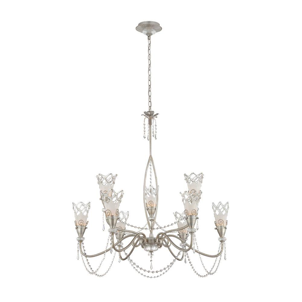 Eurofase Mara Collection 9-Light Antique Pewter Chandelier