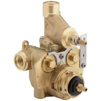 MasterShower 1/2 in. Thermostatic Valve with Integrated Volume Control and Stops