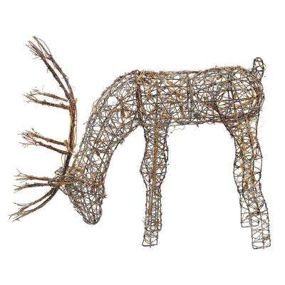 Outdoor/Indoor Christmas Grazing Reindeer with Lights