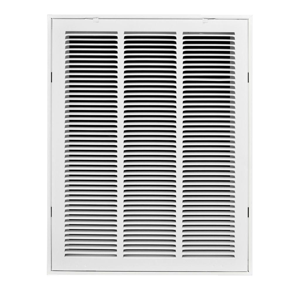 14 in. x 24 in. White Steel Return Air Filter Grille