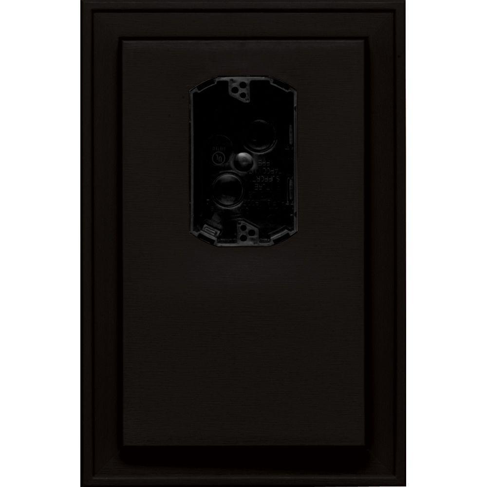 Builders Edge 8.125 in. x 12 in. #002 Black Jumbo Electri...