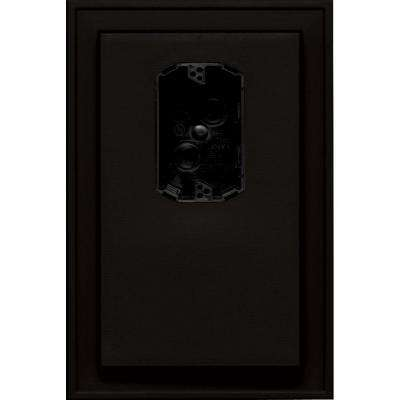 8.125 in. x 12 in. #002 Black Jumbo Electrical Mounting Block Offset