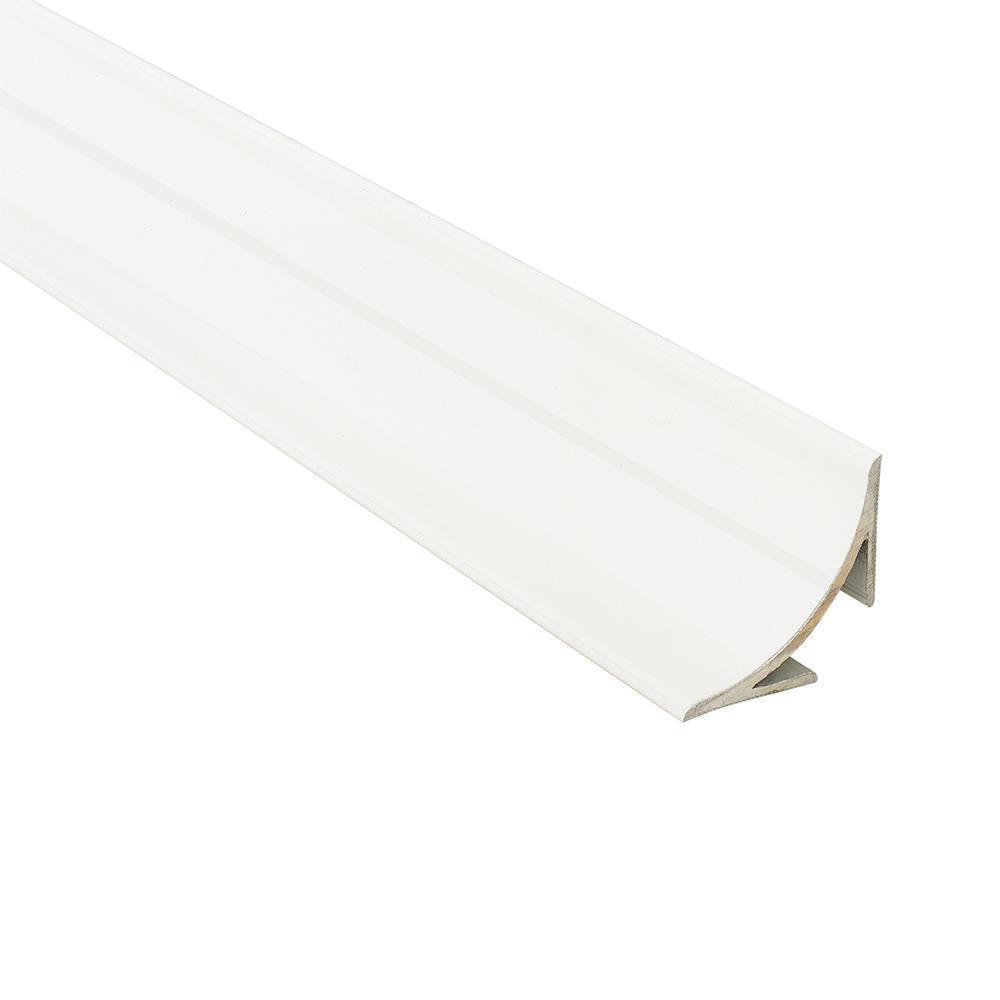 Novoescocia 4 White 1-1/2 in. x 98-1/2 in. Aluminum Tile Edging Trim