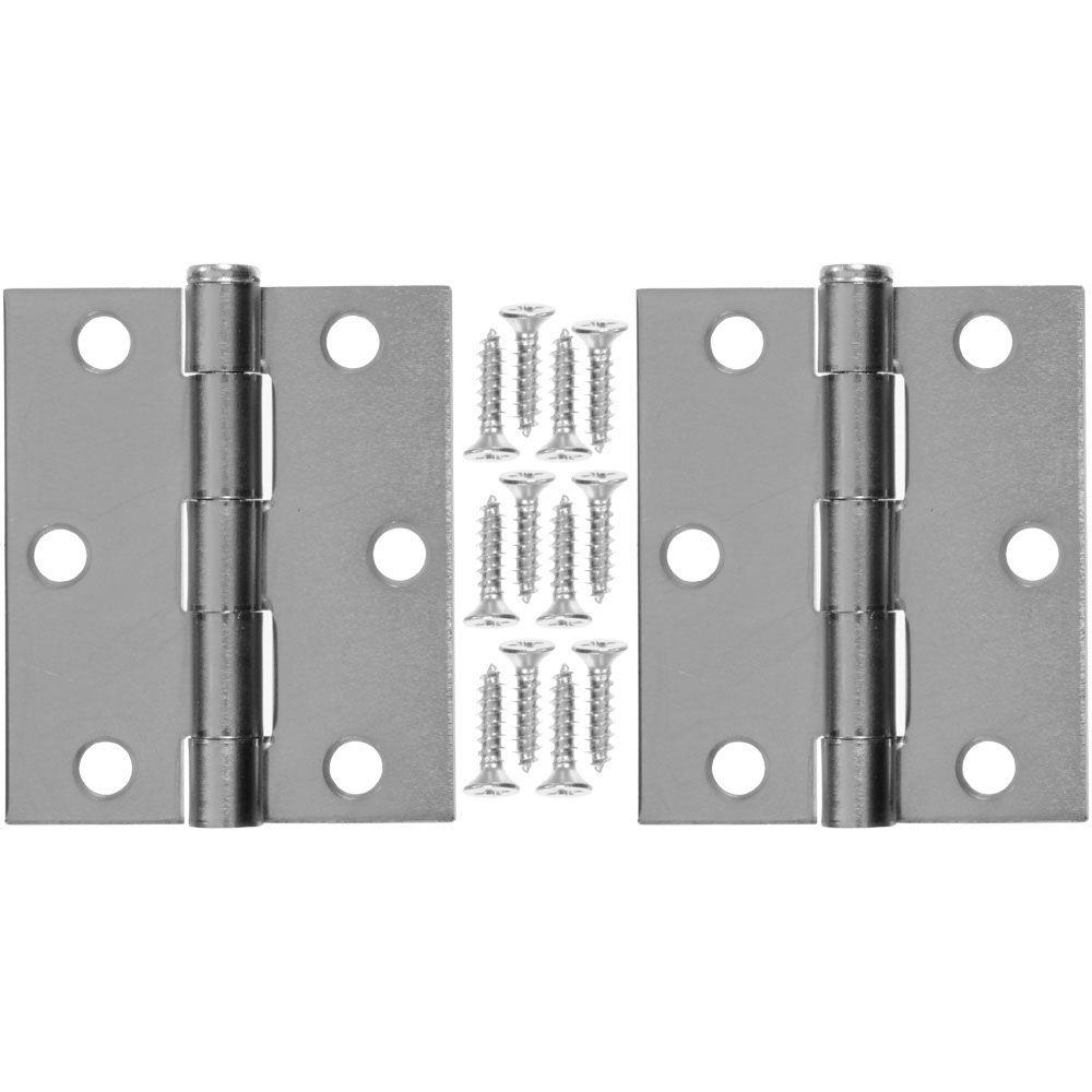 3 In X 25 In Steel Hinge 1 Pair V35 The Home Depot
