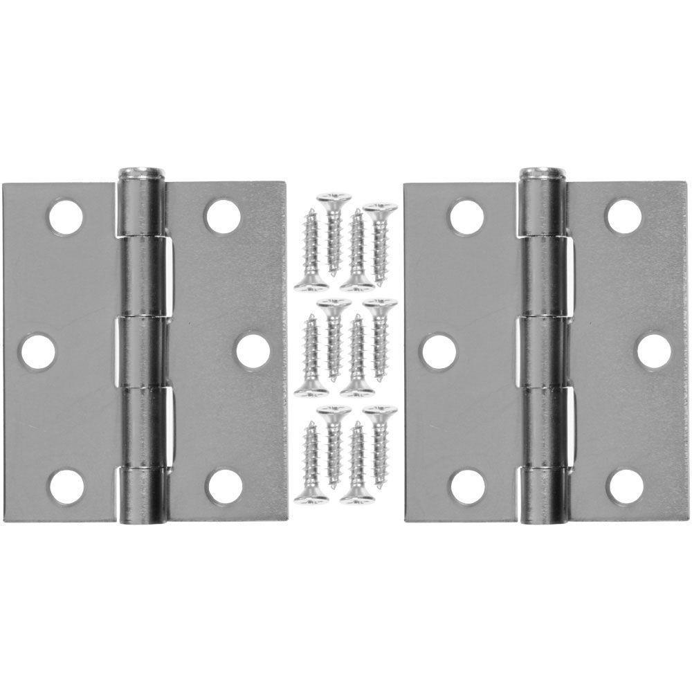 3 in. x 25 in. Steel Hinge (1-Pair)