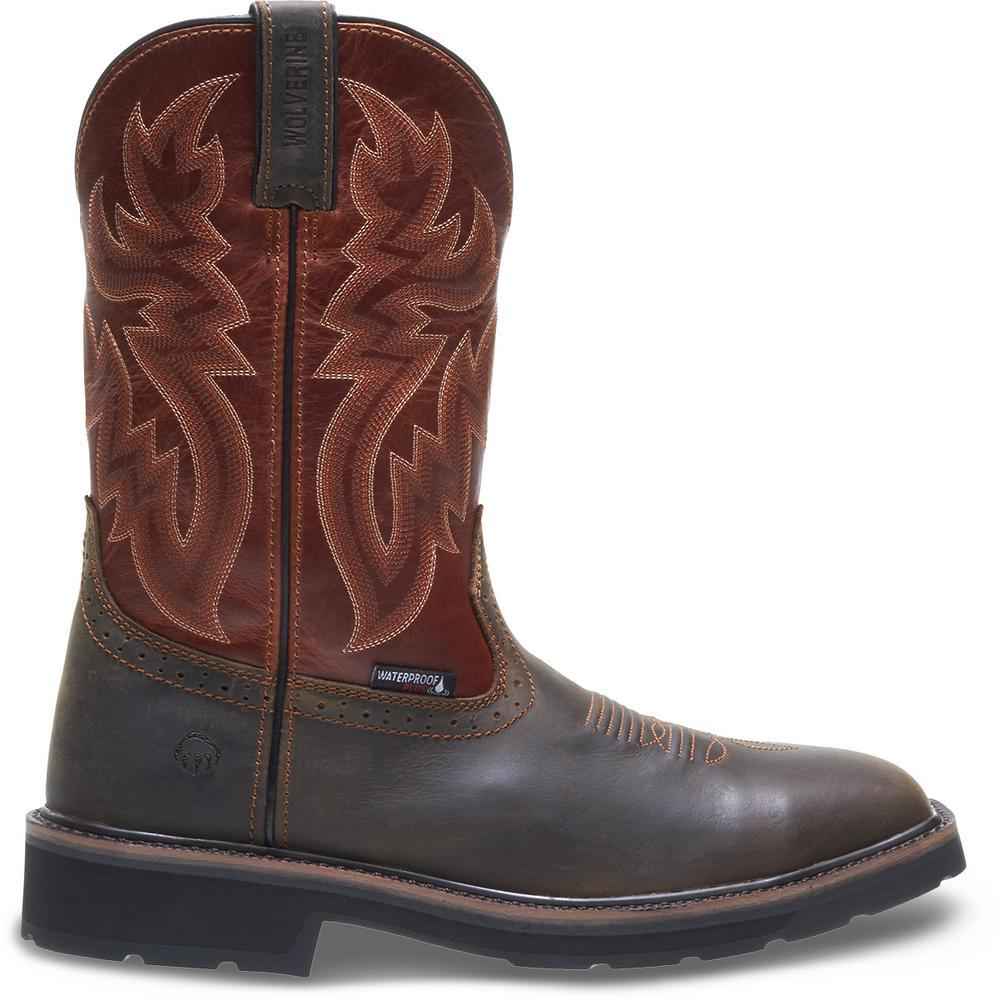 352b44bcf04 Wolverine Men's Rancher WPF Size 12EW Rust Brown Full-Grain Leather Steel  Toe 10 in. Wellington Work Boot