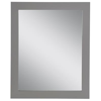 25.67 in. W x 31.38 in. H Framed Wall Mirror in Sterling Gray