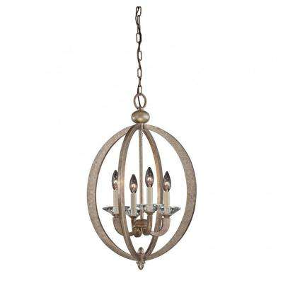 Knowsley 4-Light Gold Dust Pendant