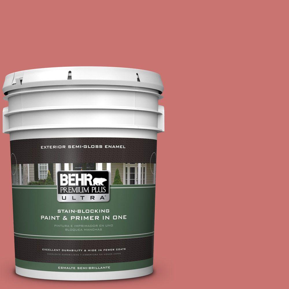 BEHR Premium Plus Ultra 5-gal. #160D-5 Lovable Semi-Gloss Enamel Exterior Paint