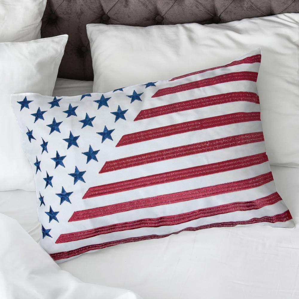 American Flag III Multicolor Decorative Pillow (Set of 2)