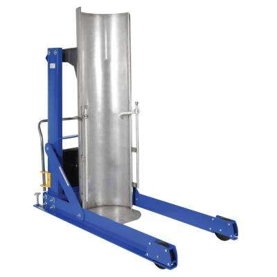 60 in. 750 lb. Capacity Portable Hydraulic Drum Dumpers with Stainless Steel Chute