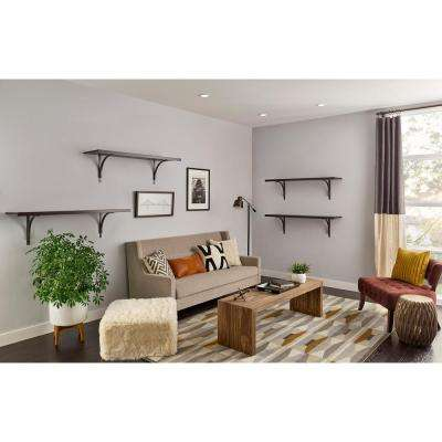12 in. x 48 in. Solid Wood Shelf Kit in Espresso