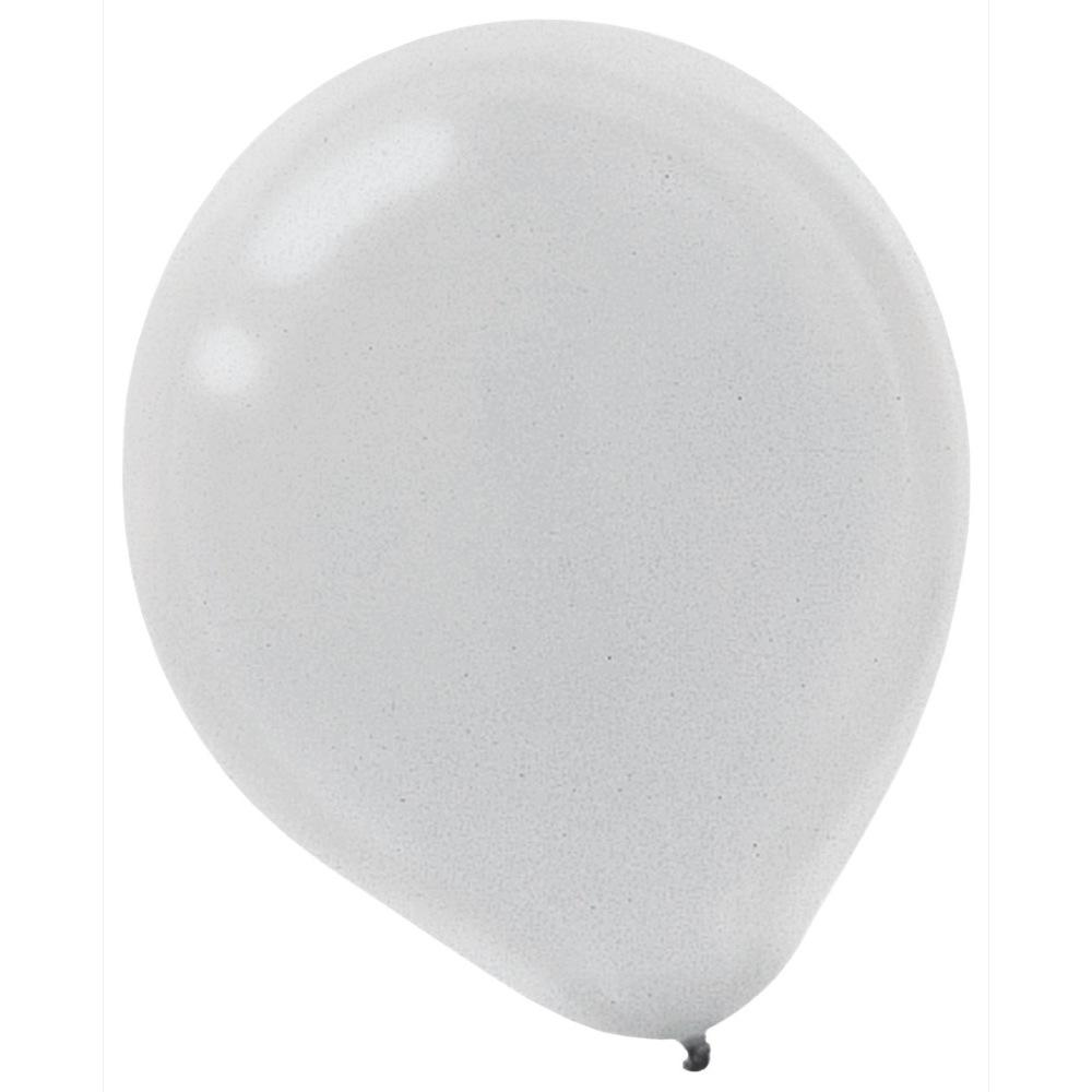 9 In Silver Pearl Latex Balloons 18 Pack