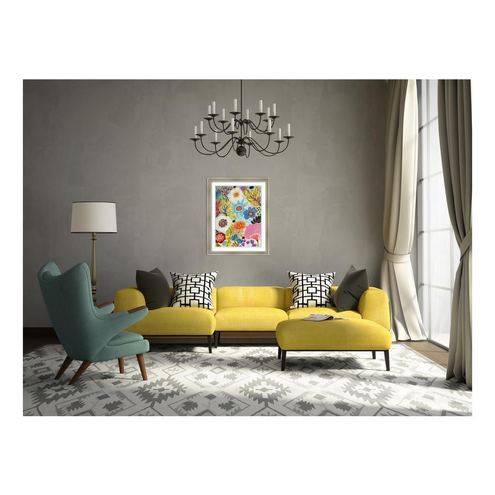 """30 in. H x 24 in. W """"Secret Garden Floral I"""" by """"Karen Fields """" Printed Framed Wall Art"""