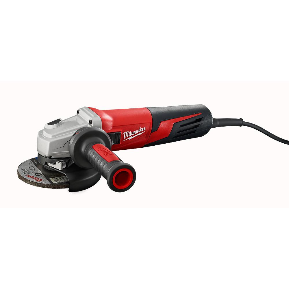 13-Amp 5 in. Small Angle Grinder with Lock-On Slide Switch
