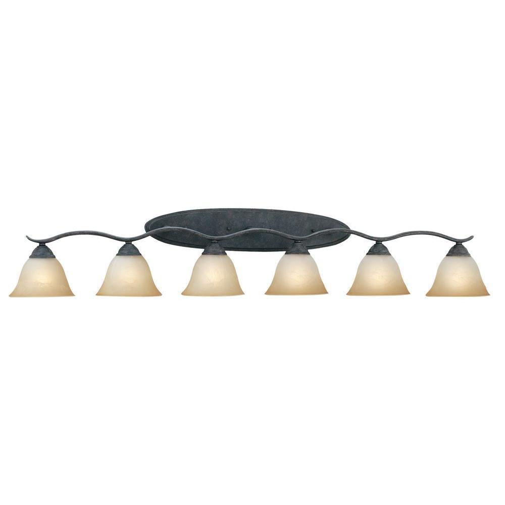 Prestige 6-Light Sable Bronze Wall Vanity Light