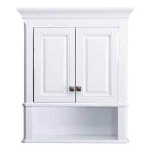 bathroom wall cabinets white. Home Decorators Collection Moorpark 24 in  W Bathroom Storage Wall Cabinet White MPWC2428 The Depot
