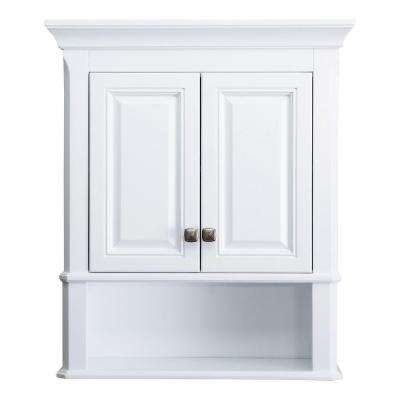 Moorpark 24 in. W Bathroom Storage Wall Cabinet in White