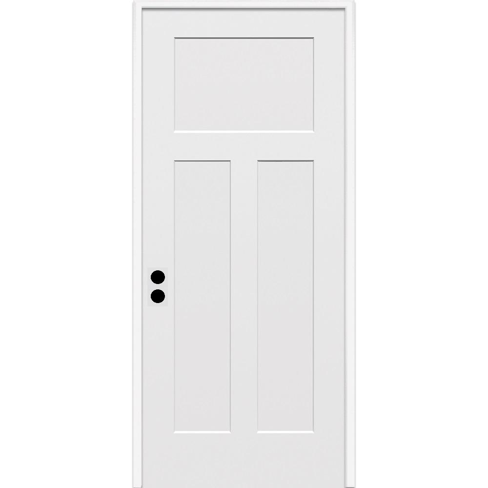 Mmi Door 32 In X 80 In Craftsman Right Hand Primed Composite 20 Min Fire Rated House To